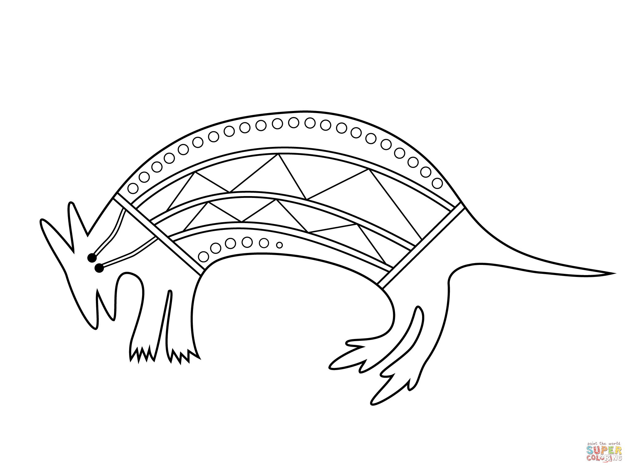 Aboriginal drawing at getdrawings free for personal use 2046x1526 aboriginal painting of wallaby coloring page free printable maxwellsz