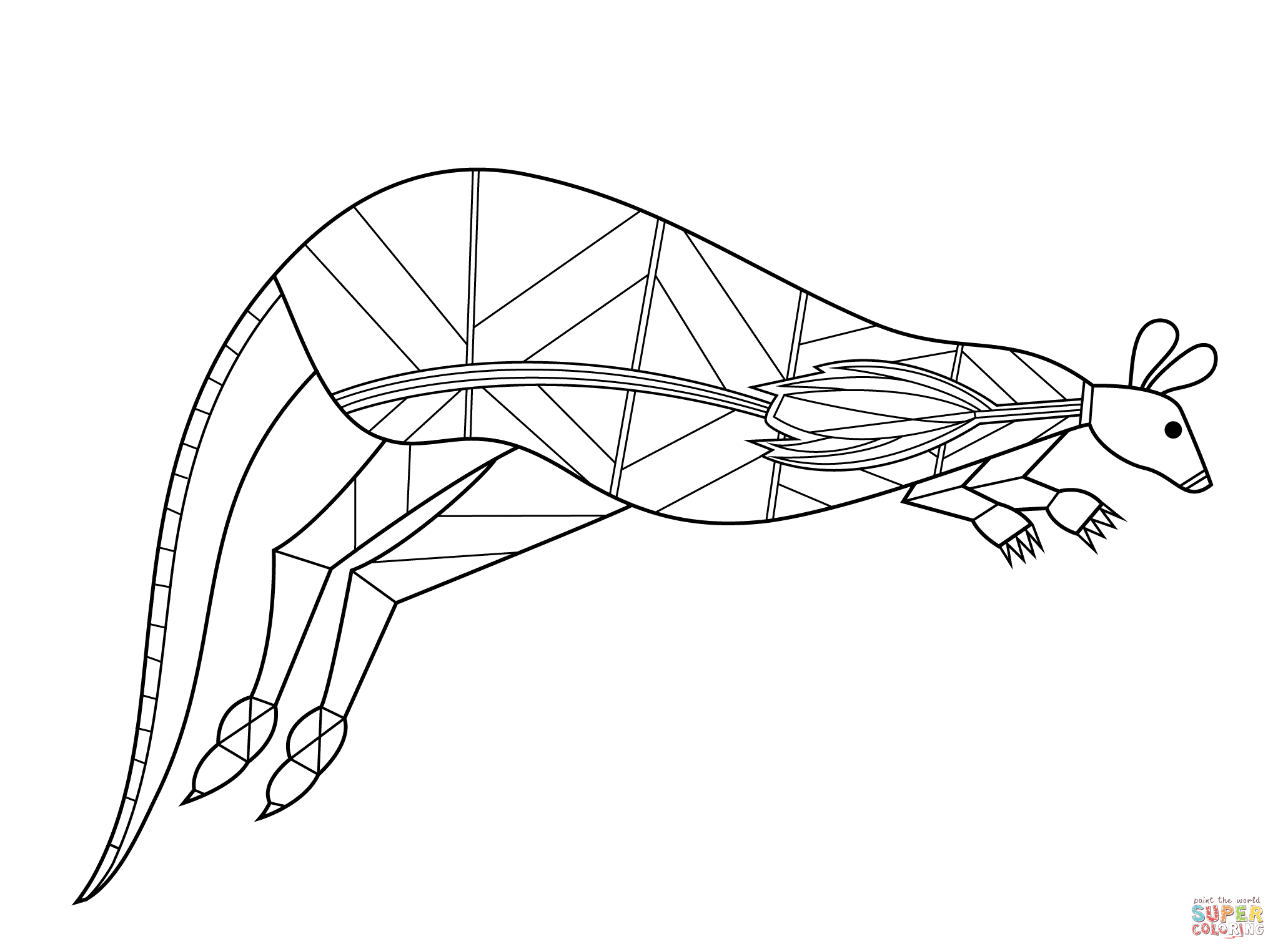 2046x1526 Platypus Aboriginal Art Coloring Page Free Printable Pages