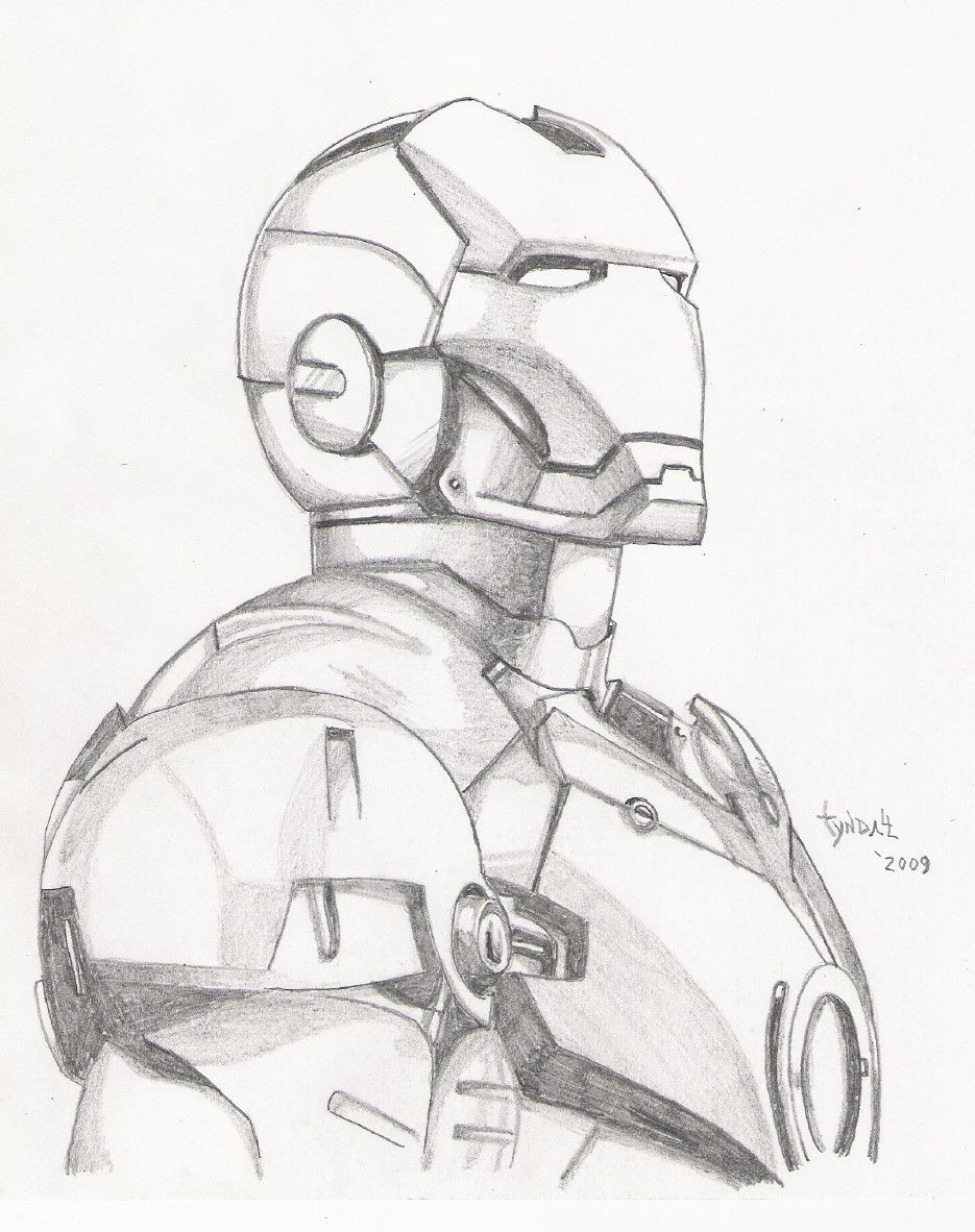 935x1182 Iron Man Sketch By On @