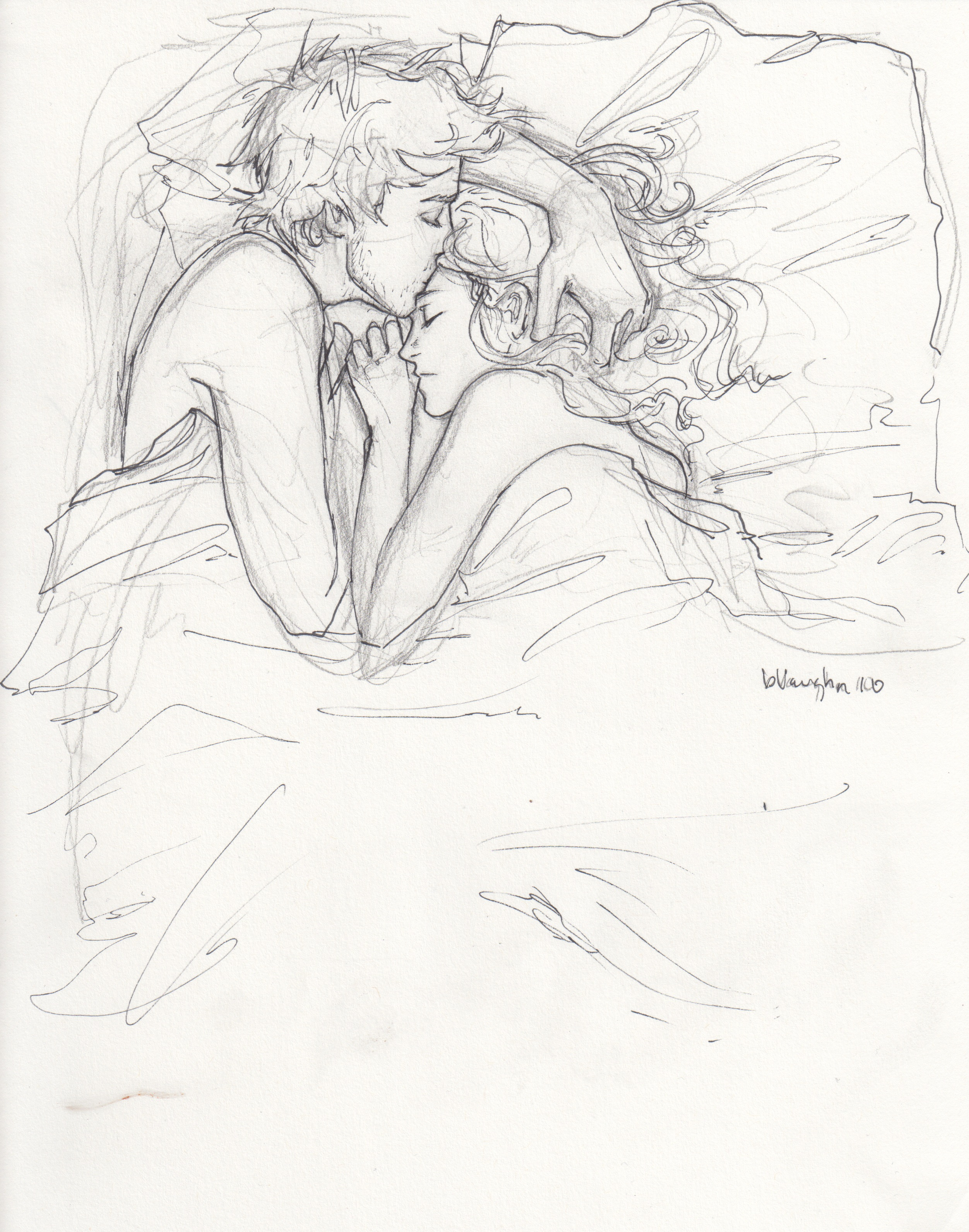 2504x3183 I Love Everything About This Sketch. It Is Sharp Yet Has Undefined