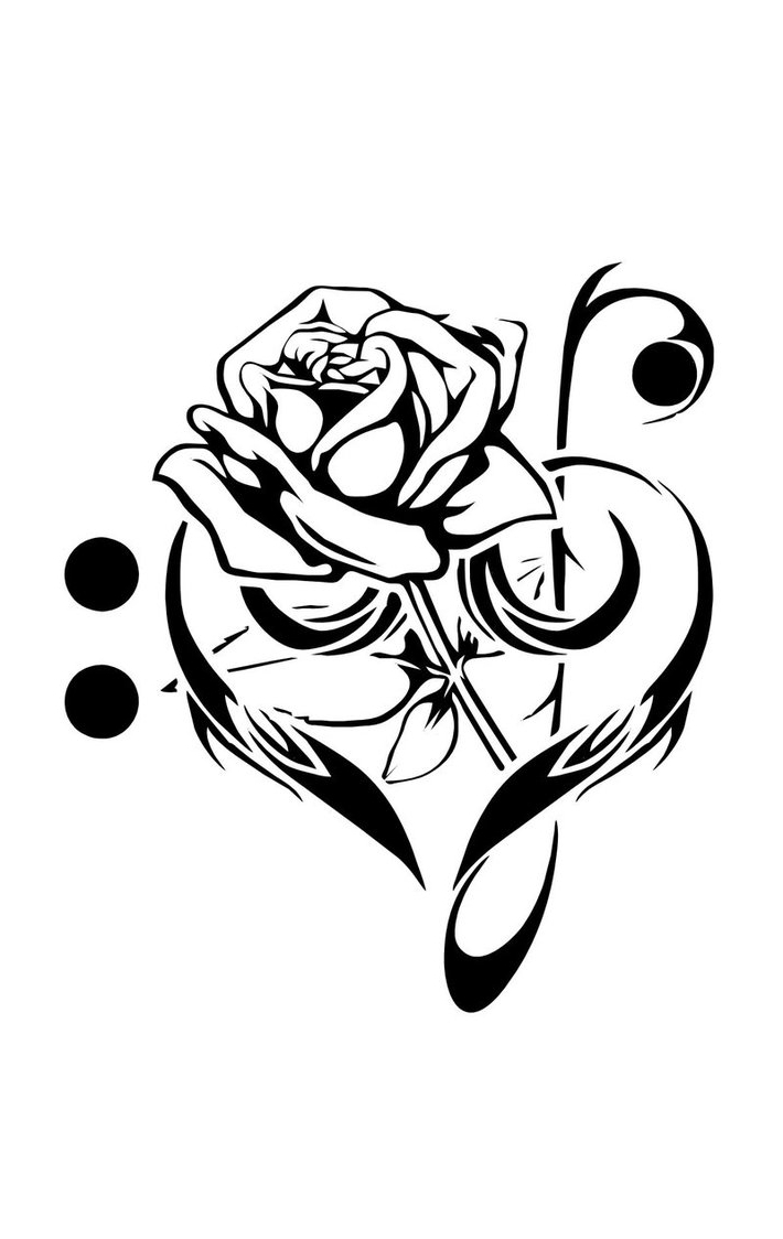 710x1124 Flower Music Drawing Language To Life How Draw A Rose Flower