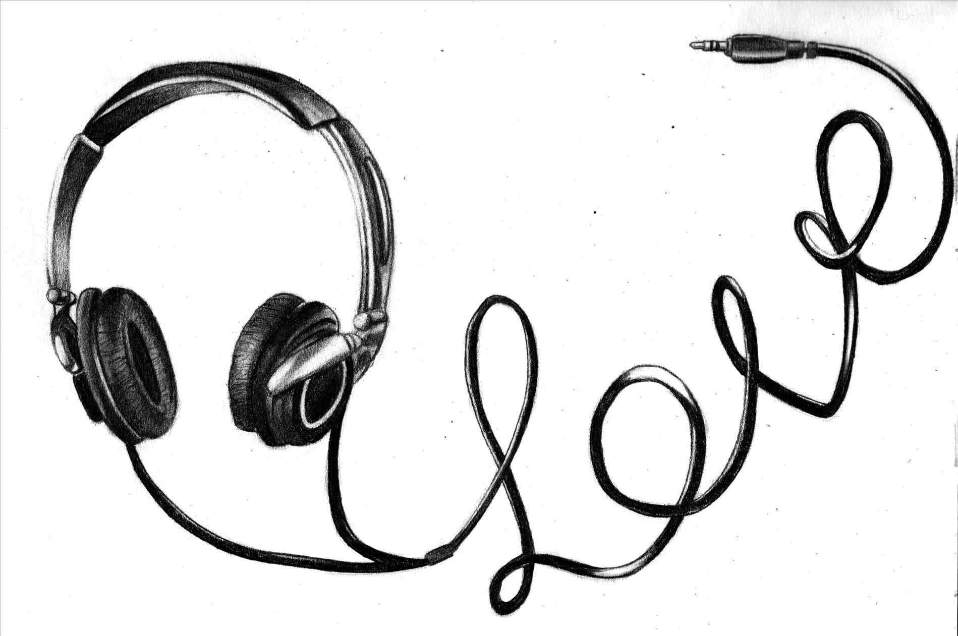 1899x1261 The Headphones Music Drawings Hottest Wedding Songs For And Dj