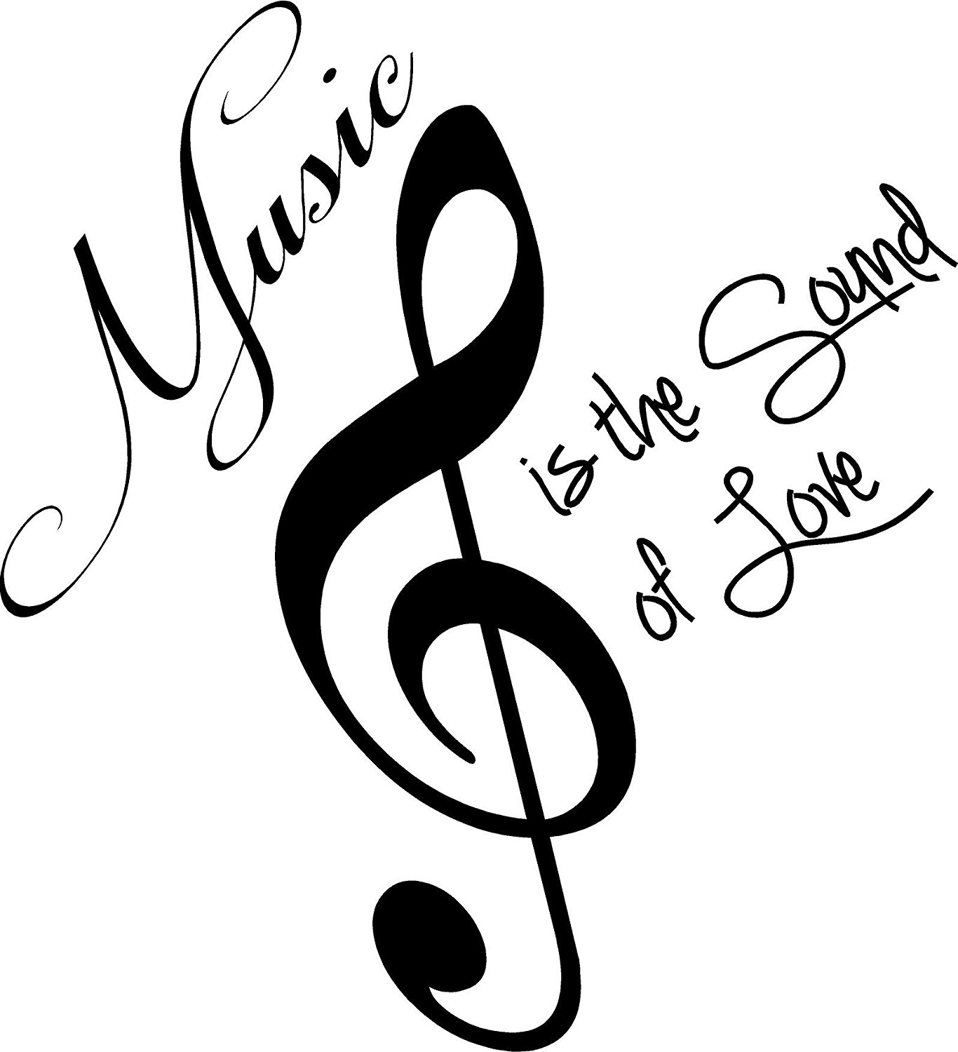 1366x1500 Music Is The Sound Of Love Cute Wall Art Wall Sayings