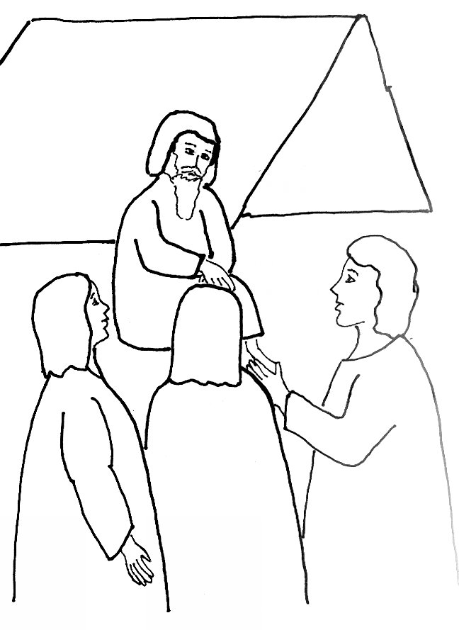 648x889 Bible Story Coloring Page For Angels Visit Abraham Free Bible