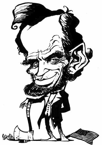 350x500 Abe Lincoln By Stieglitz Famous People Cartoon Toonpool