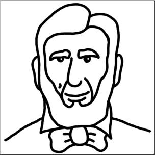 304x304 Clip Art Cartoon Faces Abraham Lincoln Bampw I Abcteach