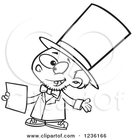 450x470 Clipart Of Black And White Abraham Lincoln Giving A Speech