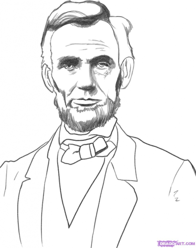 808x1024 How To Draw Abraham Lincoln Face