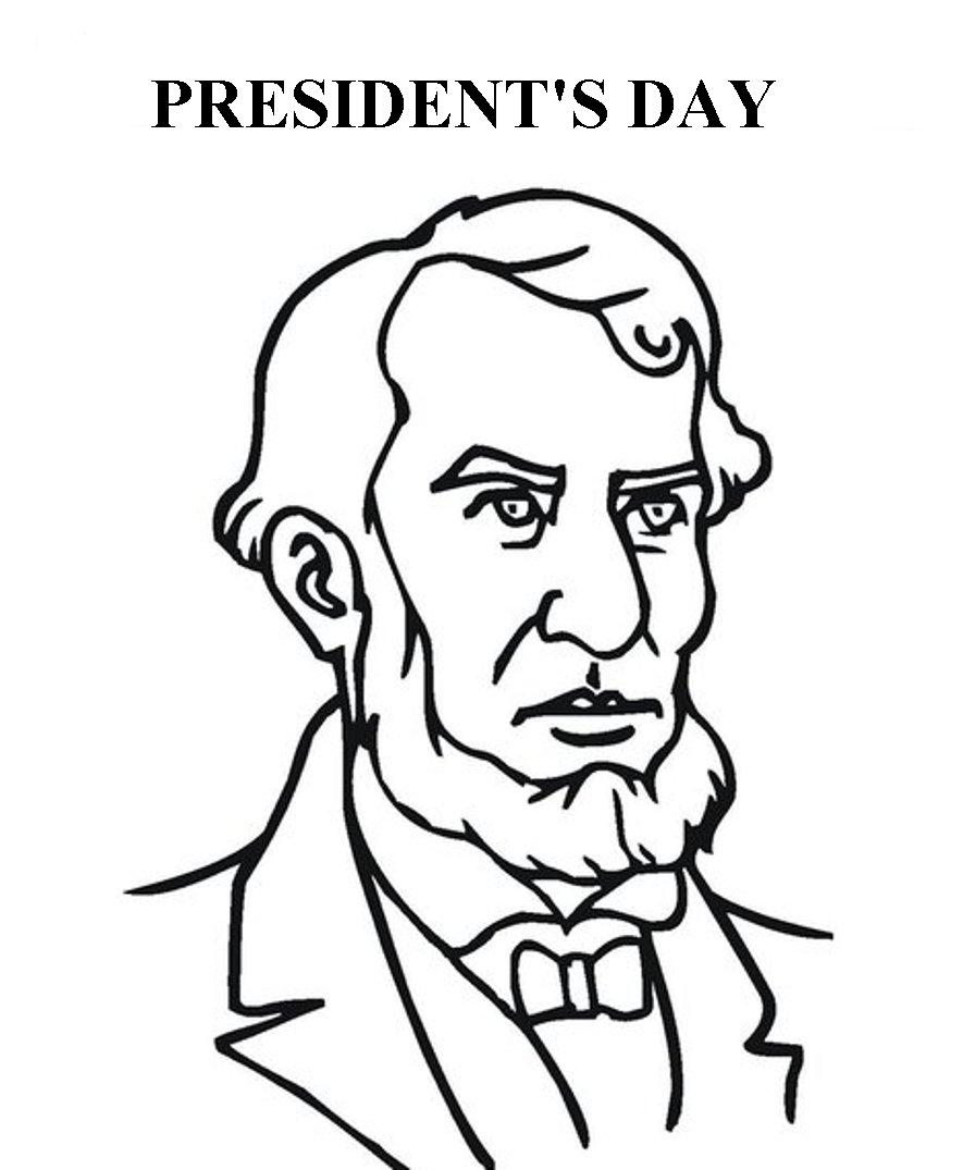 885x1075 Lincoln Presidents Day Coloring Pages Holidays Coloring Pages