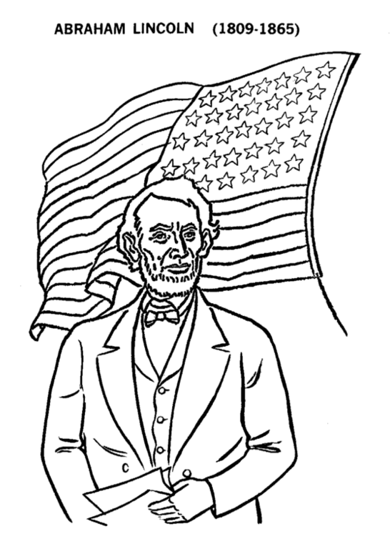 546x747 Abraham Lincoln Coloring Pages