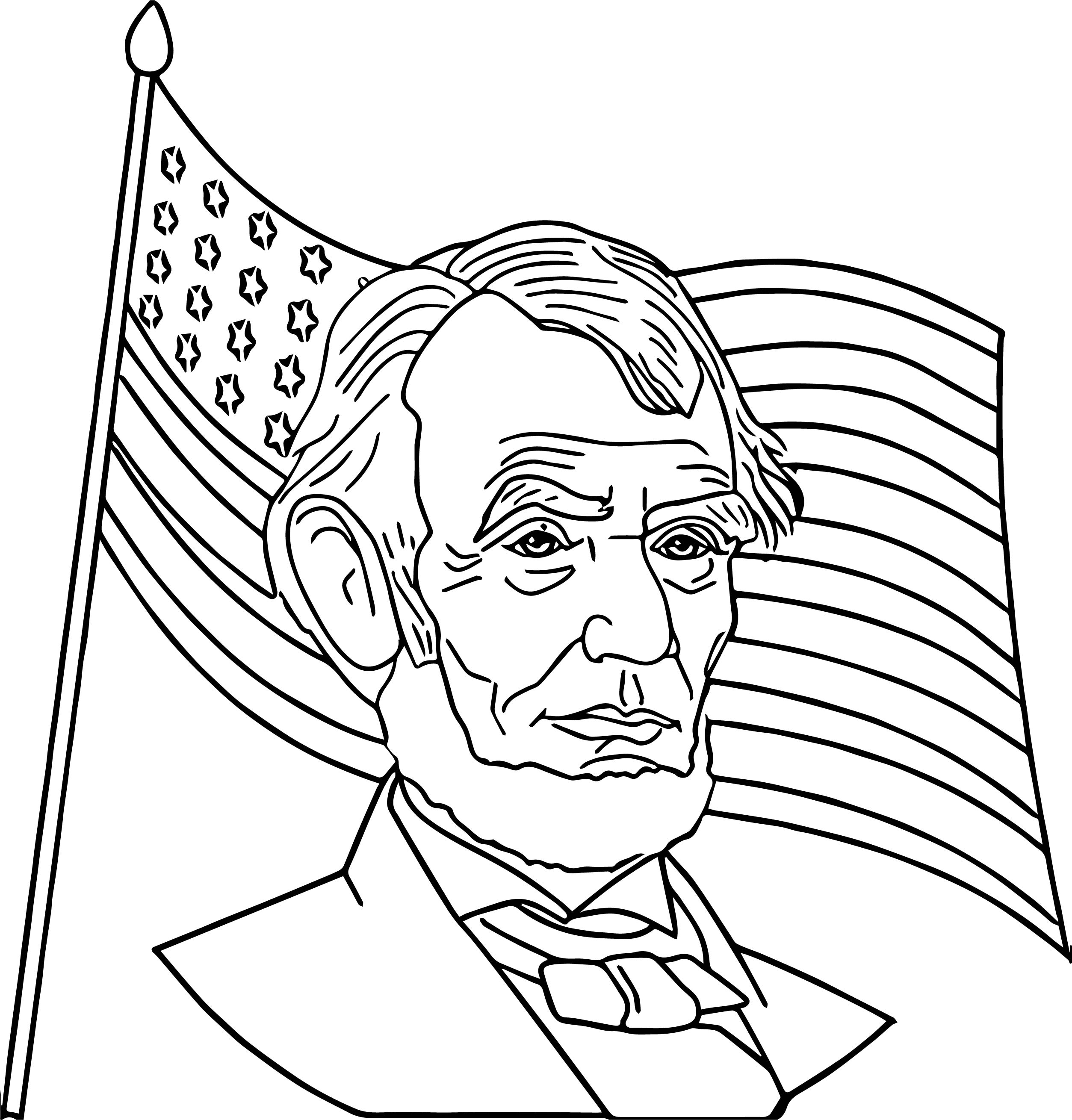 2507x2620 Abraham Lincoln President America Coloring Page Wecoloringpage