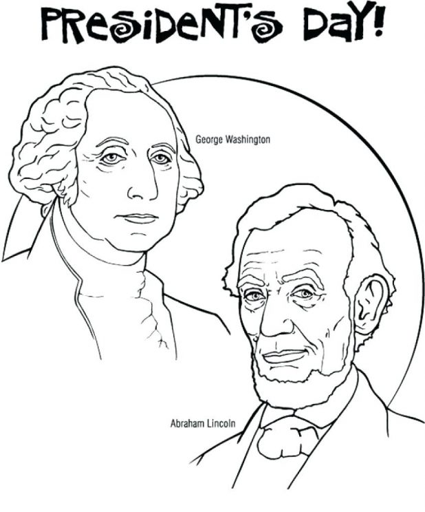 618x744 Coloring Page Free Printable Abraham Lincoln Pages Abe Abraham