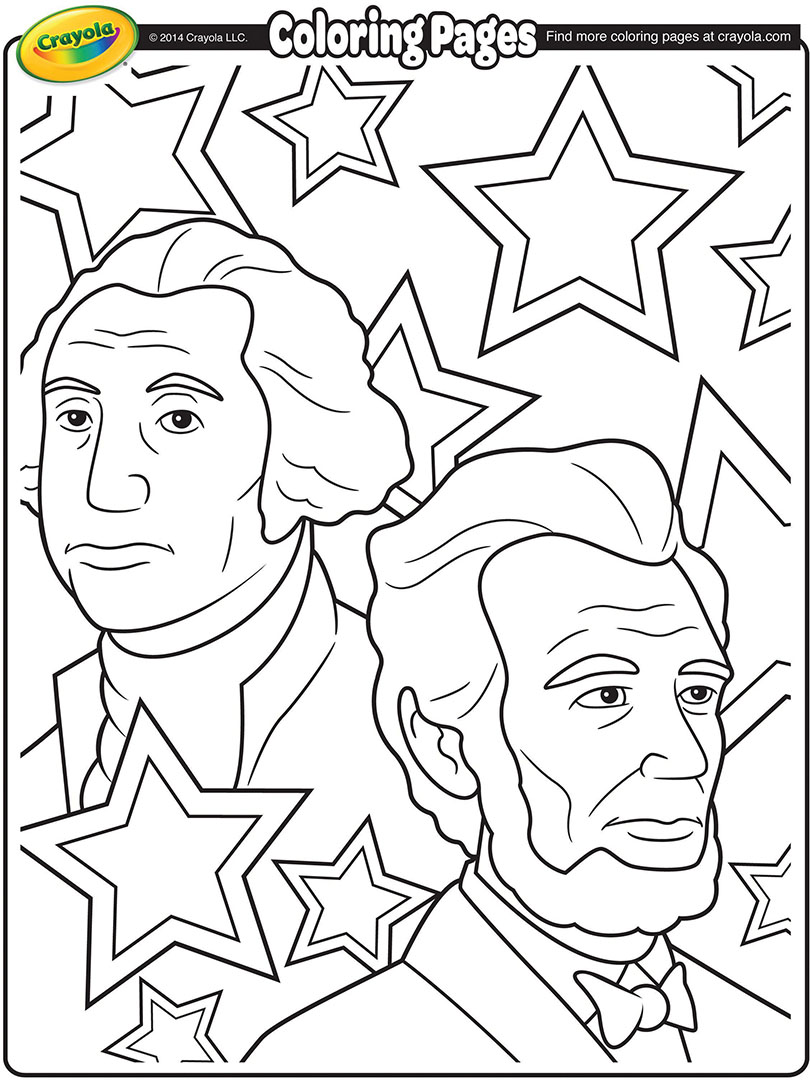 810x1080 George Washington And Abraham Lincoln Coloring Page