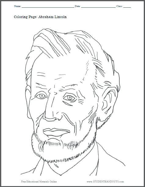475x611 New Abraham Lincoln Coloring Page Image