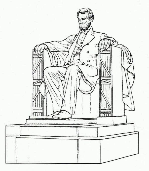 600x688 Statue Clipart Lincoln Memorial
