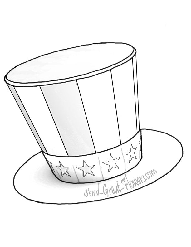 612x792 Top Hat Coloring Top Hat Coloring Image