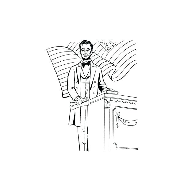 600x600 Trend Abe Lincoln Coloring Page Free Download Pages Pin Drawn 8