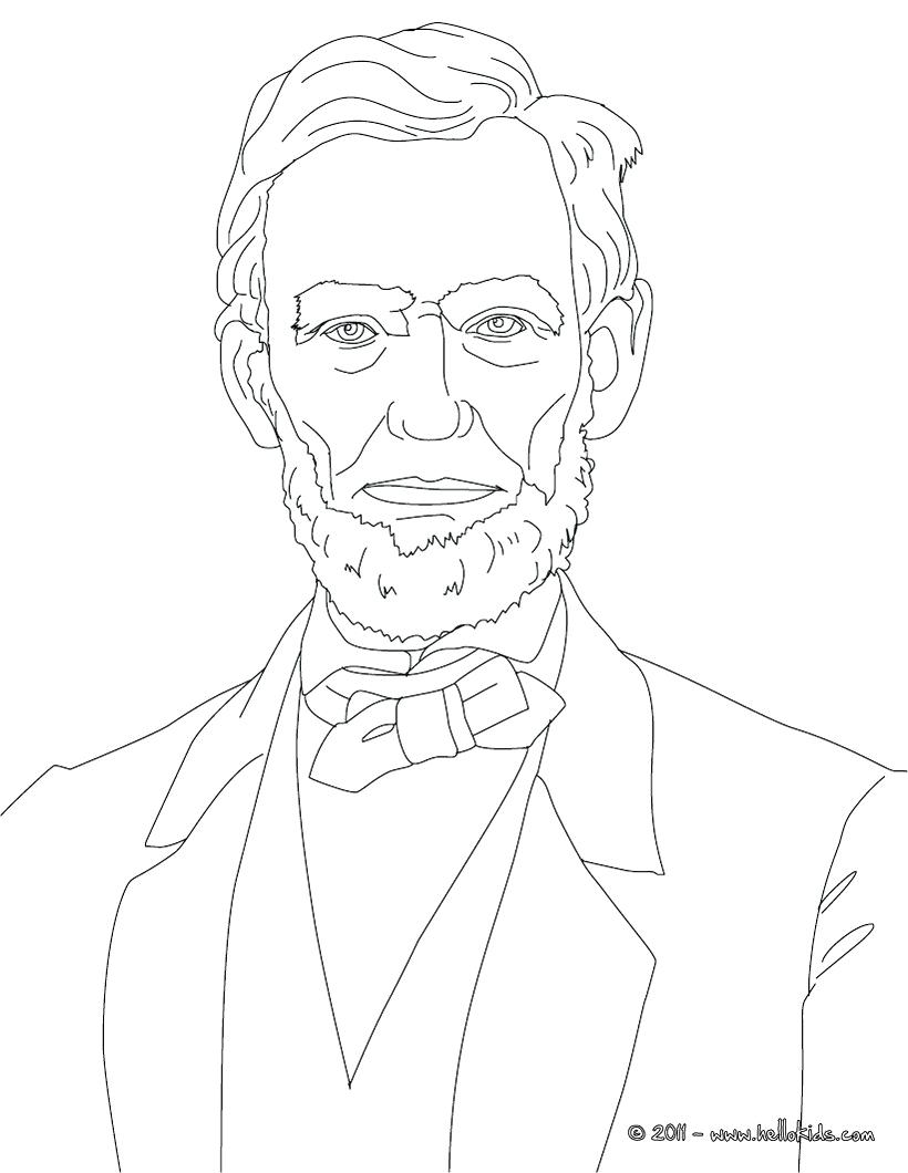 820x1060 Coloring Coloring Pages Of Abraham Lincoln Top Hat. Coloring