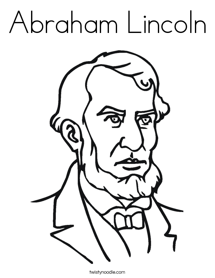 685x886 Abraham Lincoln Coloring Page