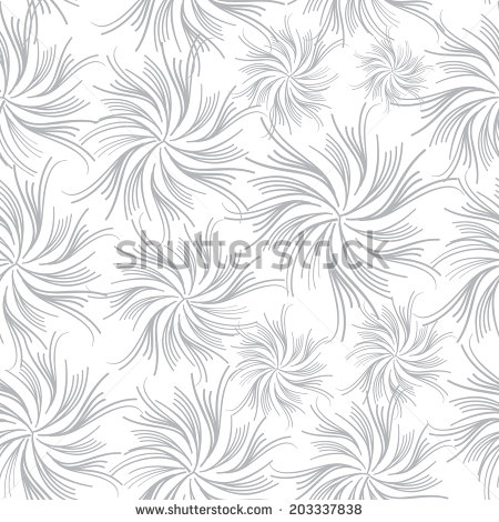 450x470 Flowers Seamless Wave Background. Floral Seamless Texture