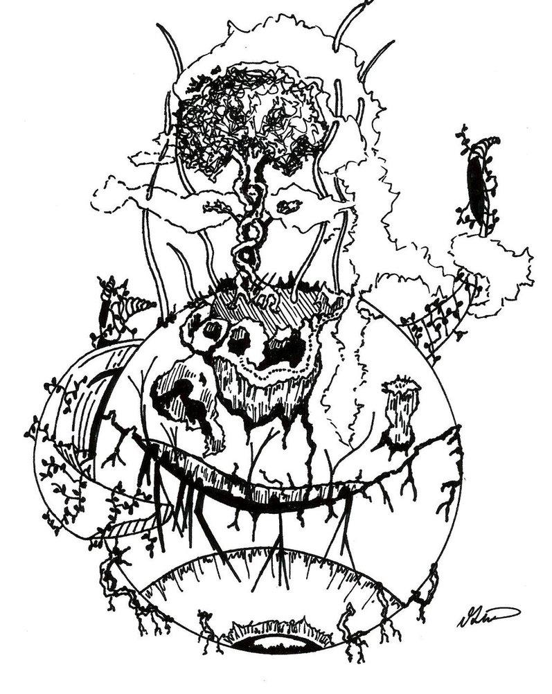 797x1002 Abstract Eyeball Drawing By Echotrex