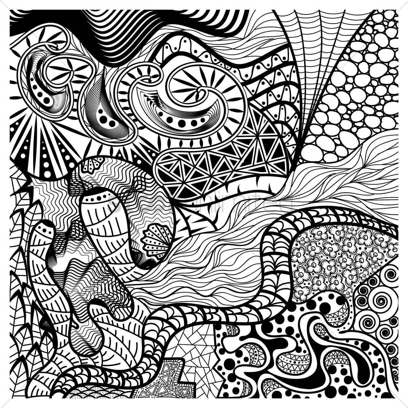 1300x1300 Intricate Abstract Design Vector Image