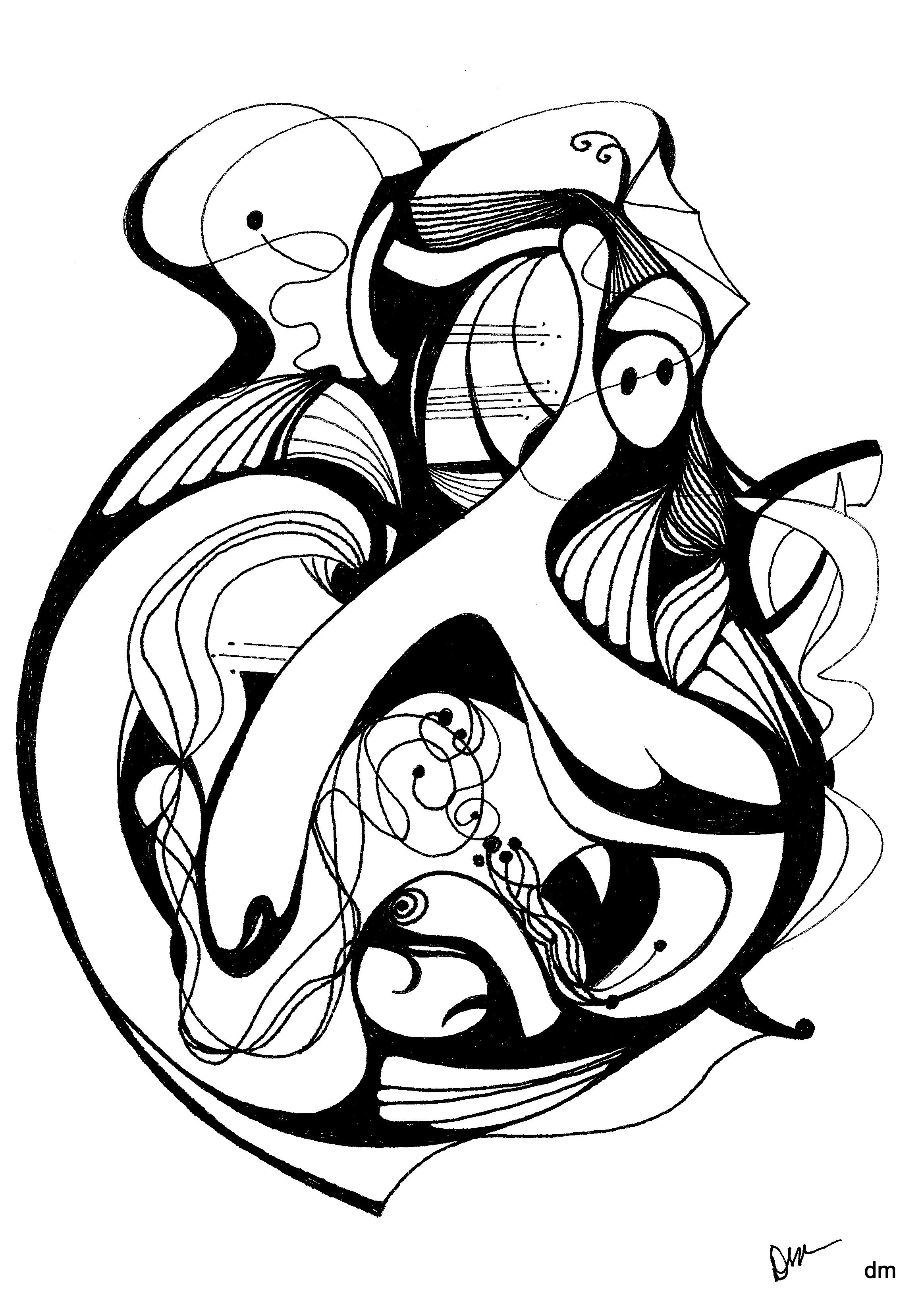 2327x3296 Pen Amp Ink Abstract Drawings My Creative Spirit And Others I Want