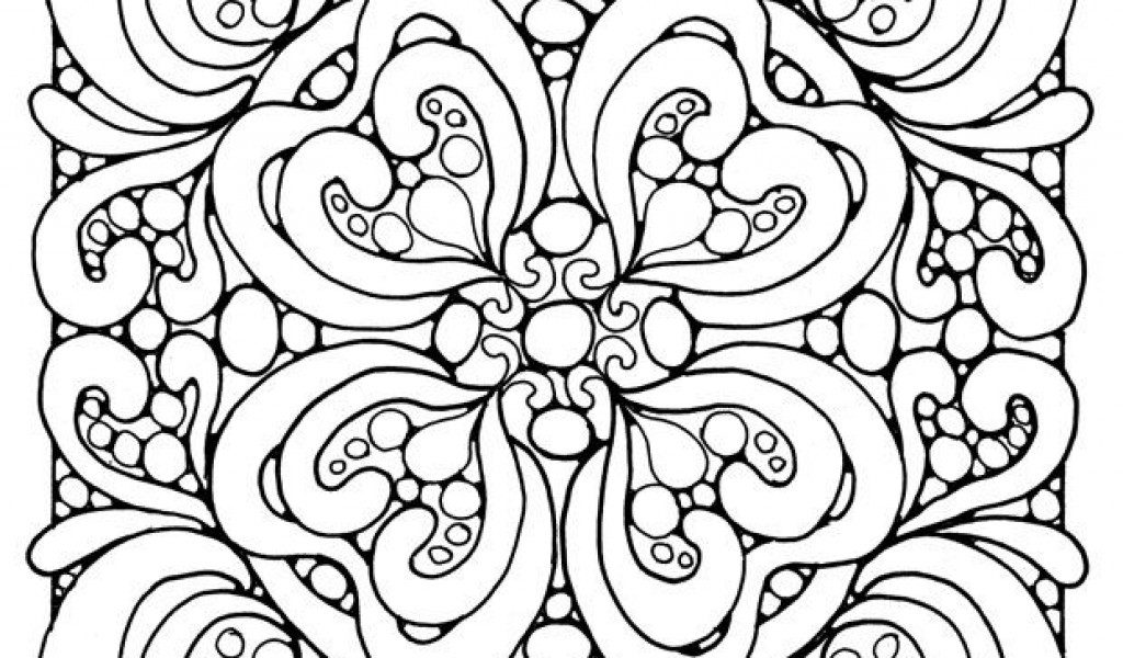 1024x600 Abstract Art Coloring Pages