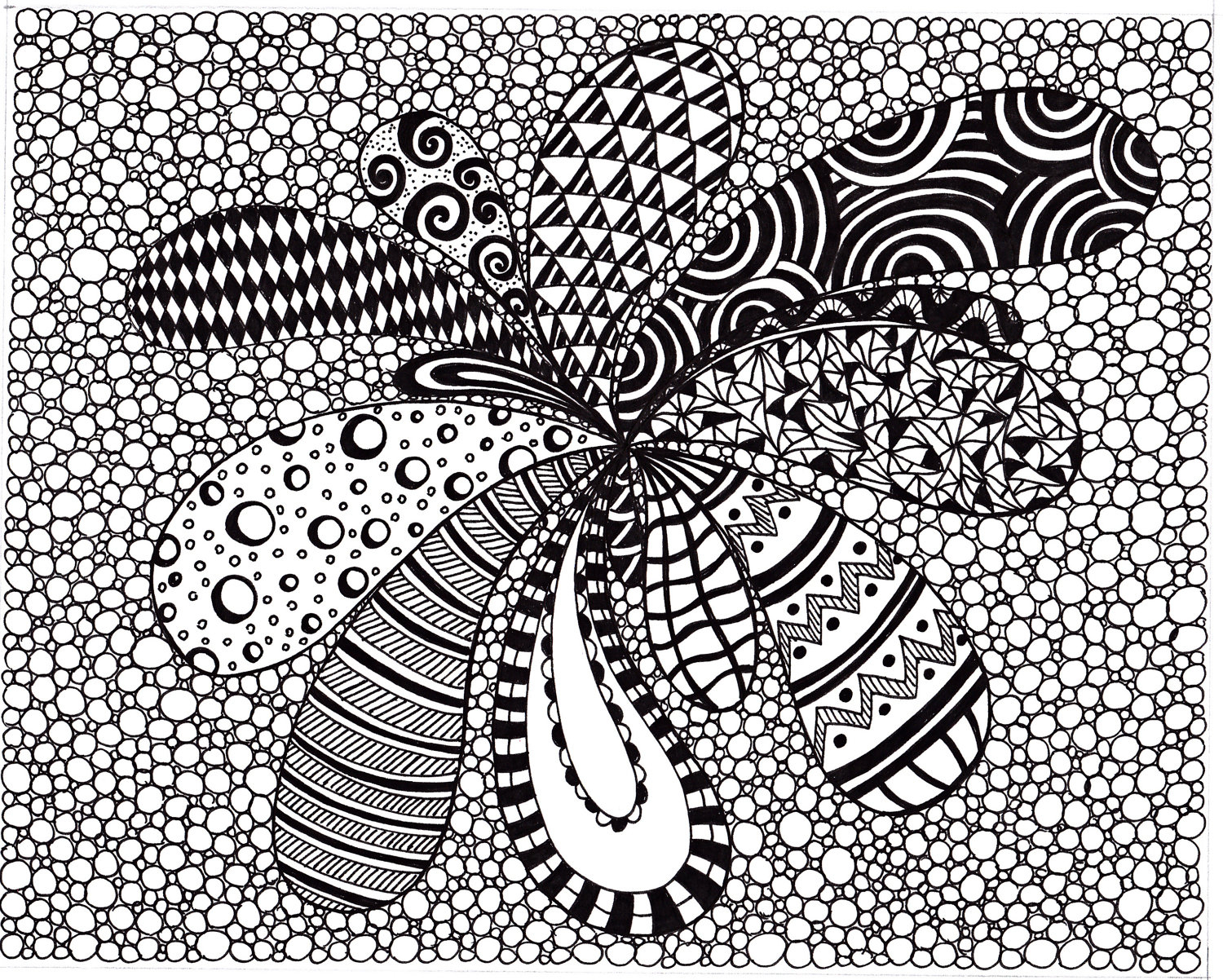 1500x1202 Abstract Art Drawing Ideas Zentangle Inspired Abstract Art Print
