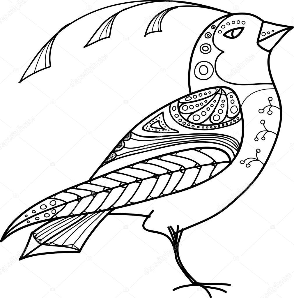 1010x1023 Magic Abstract Bird Stock Vector Baranessku