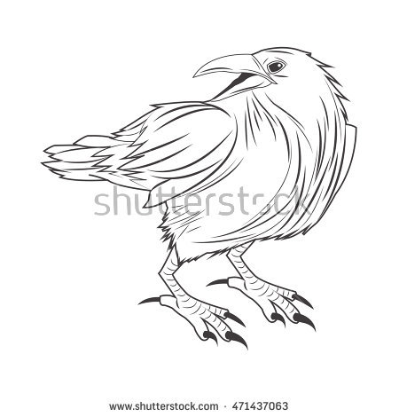 450x470 Eagle Tattoo Animal Draw Abstract Icon. Flat And Isolated Design