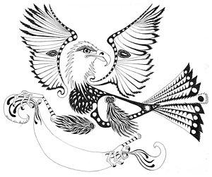 300x251 Abstract Bird Drawings