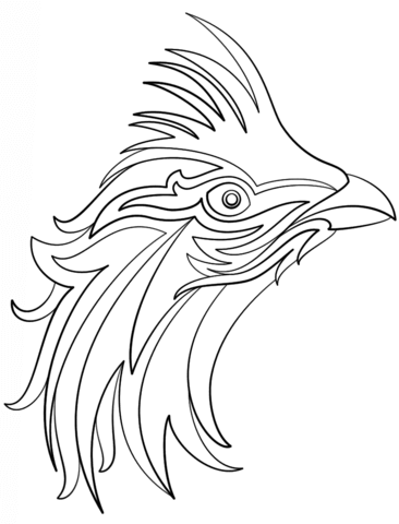 366x480 Abstract Bird Coloring Page Free Printable Coloring Pages