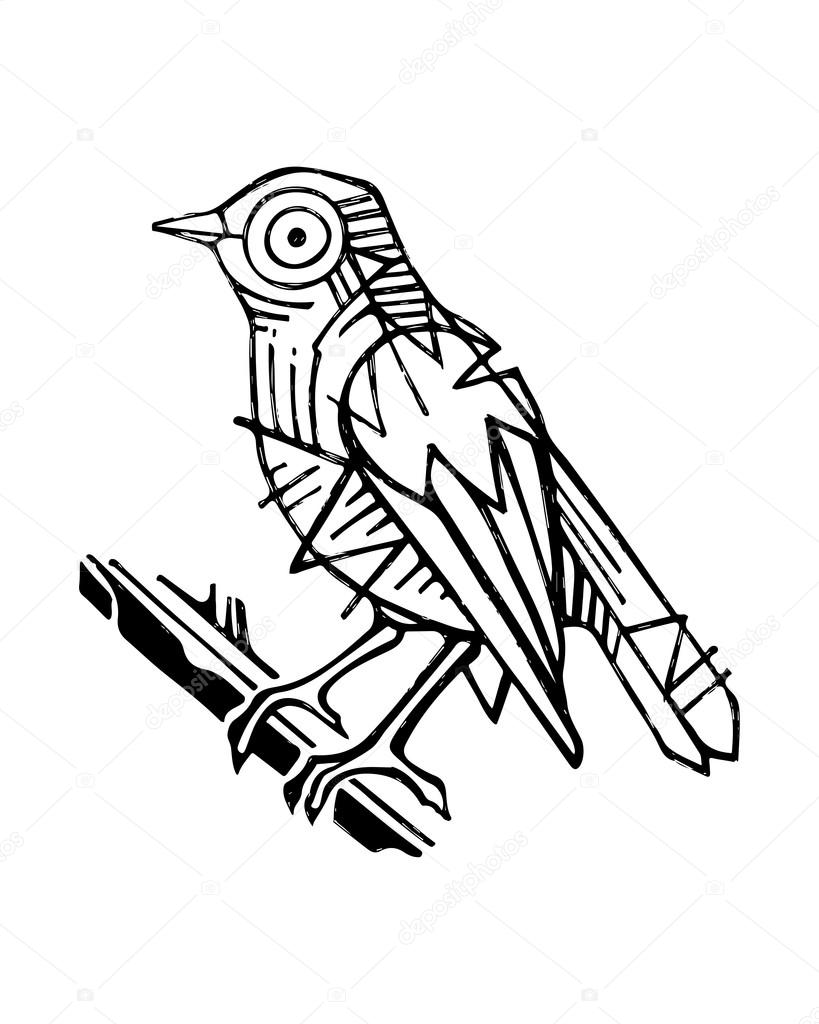 819x1024 Abstract Geometric Bird Stock Vector Bernardojbp
