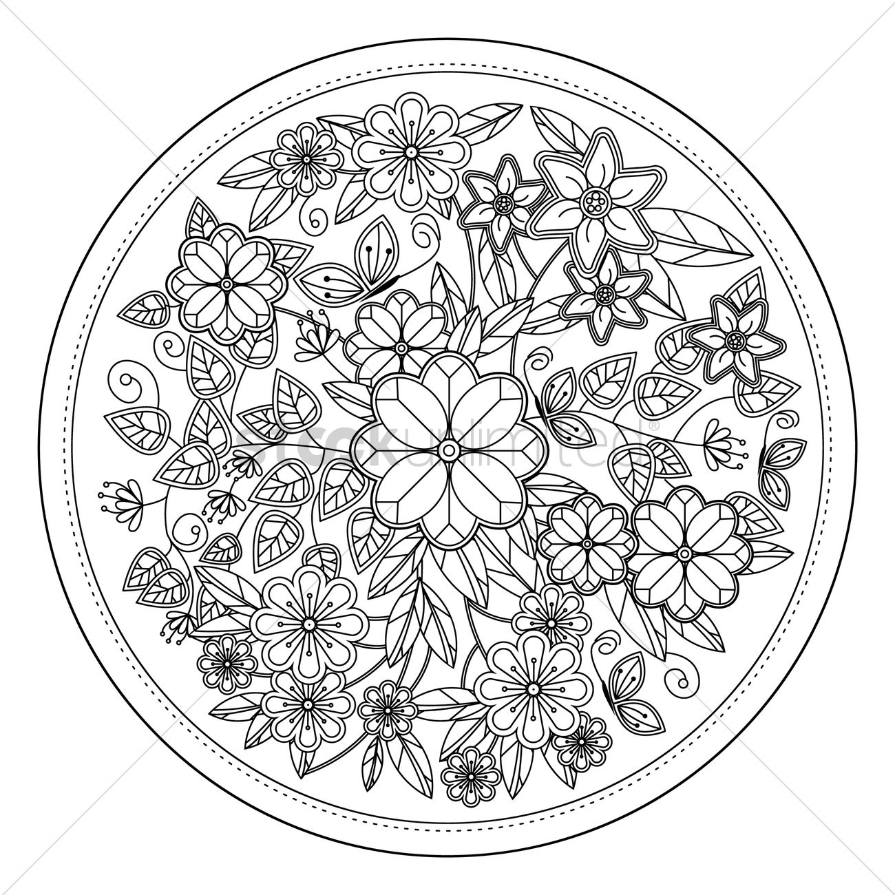 1300x1300 Abstract Intricate Pattern Design Vector Image
