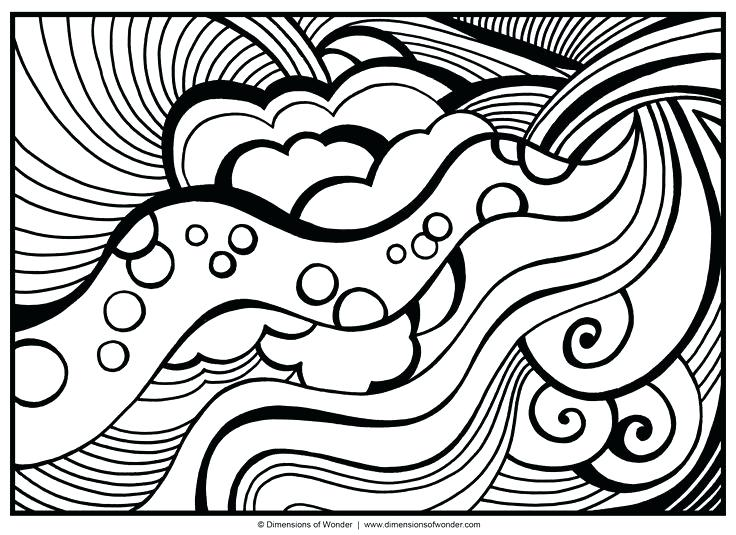 736x535 Cool Abstract Coloring Pages Awesome Abstract Design Coloring