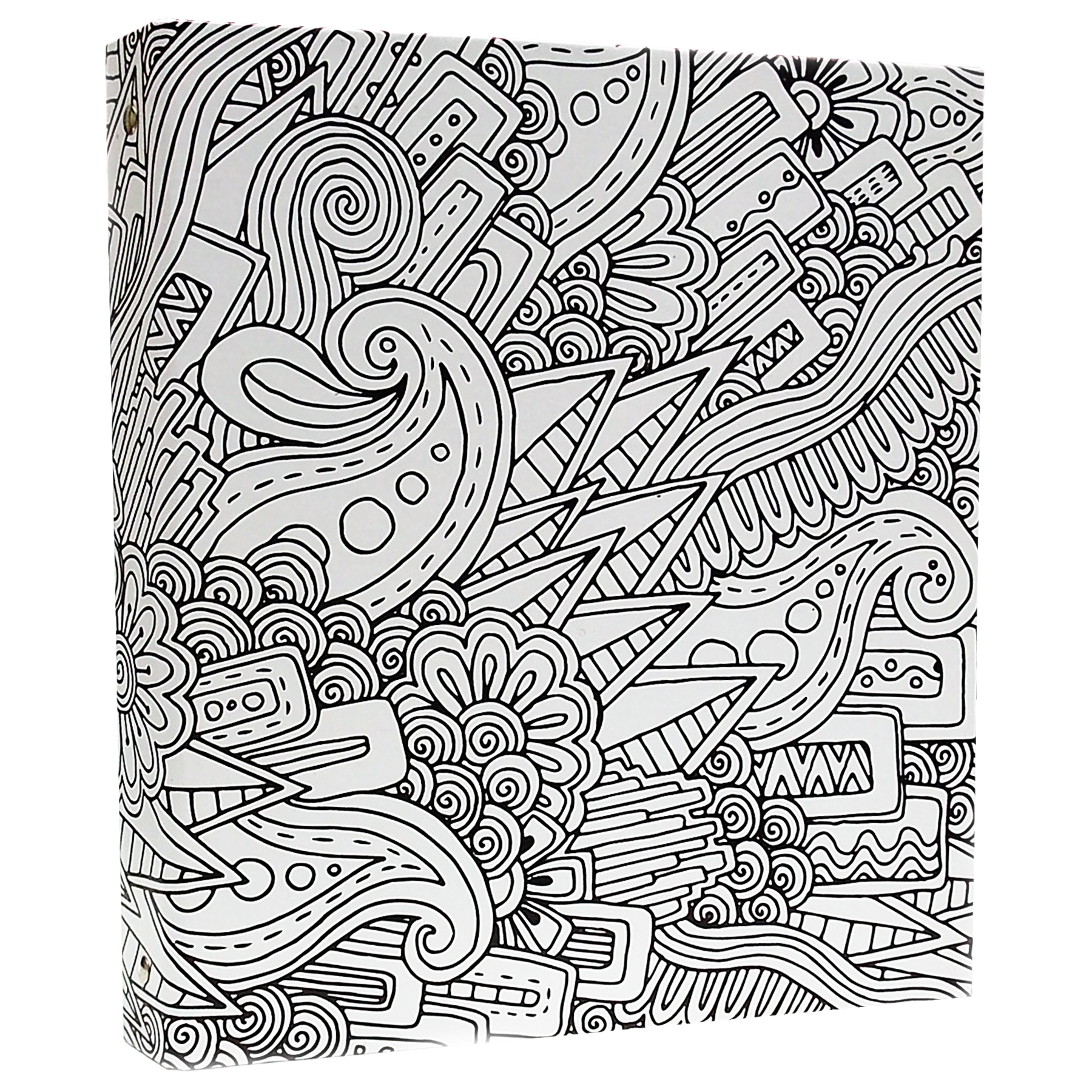 1800x1800 Illustrator Coloring Binder In A Abstract Design, 1 Inch, 3 Ring