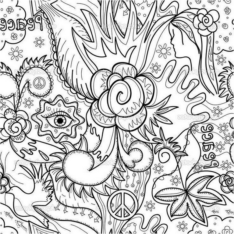 768x768 Abstract Design Coloring Pages