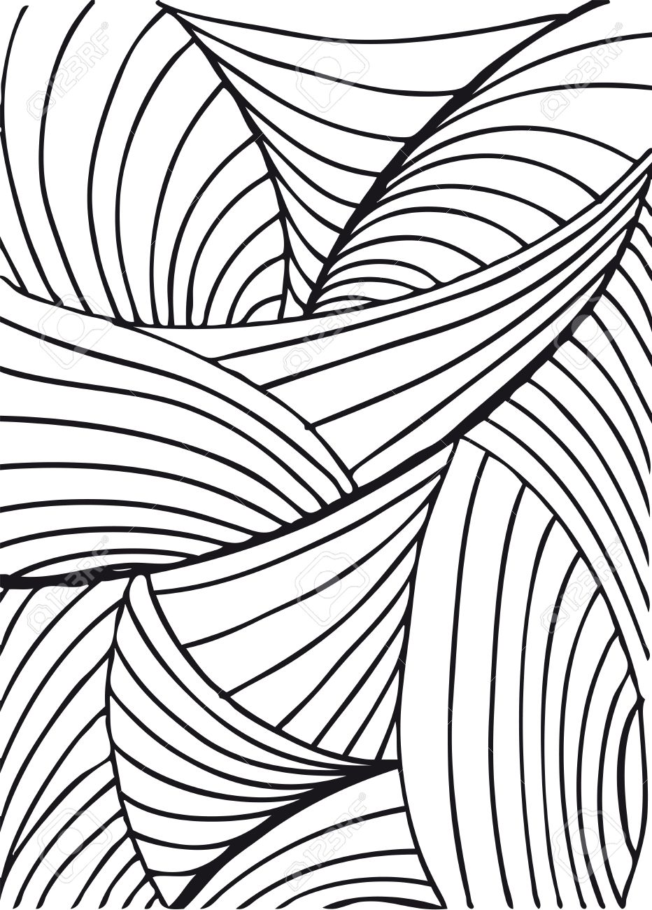 932x1300 Drawn Background Abstract Pattern