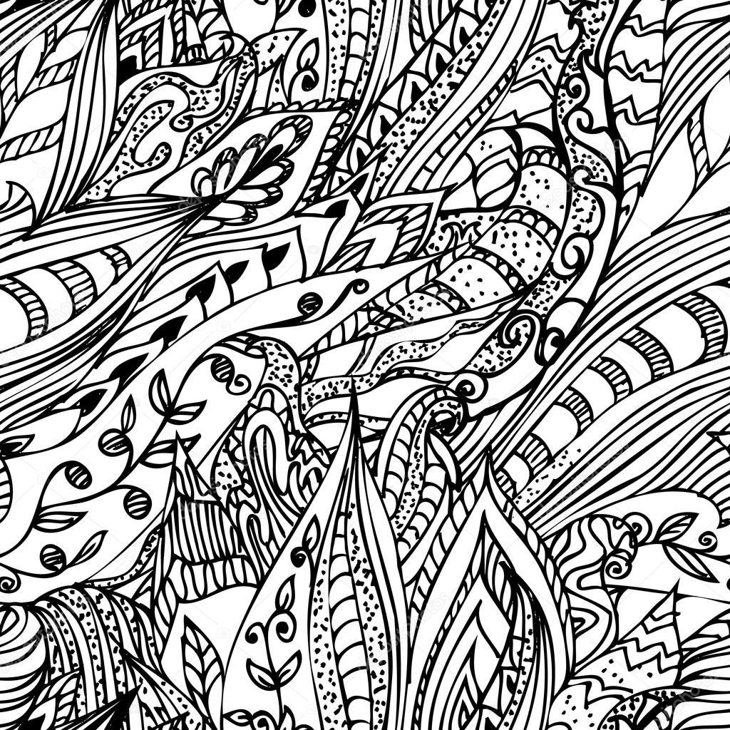 1024x1024 Abstract Ink Designs Doodle Seamless Stock Vector Oksana