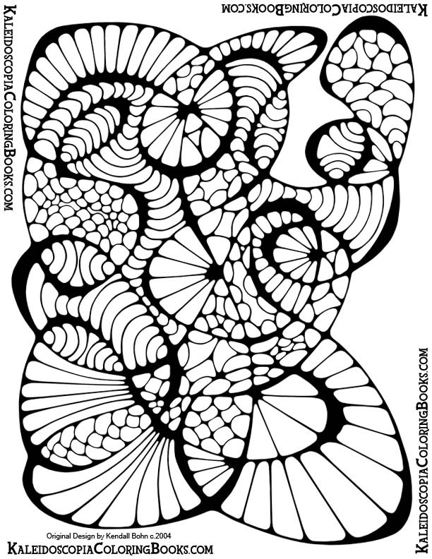 612x792 Free Coloring Page Abstract Adventure Ii