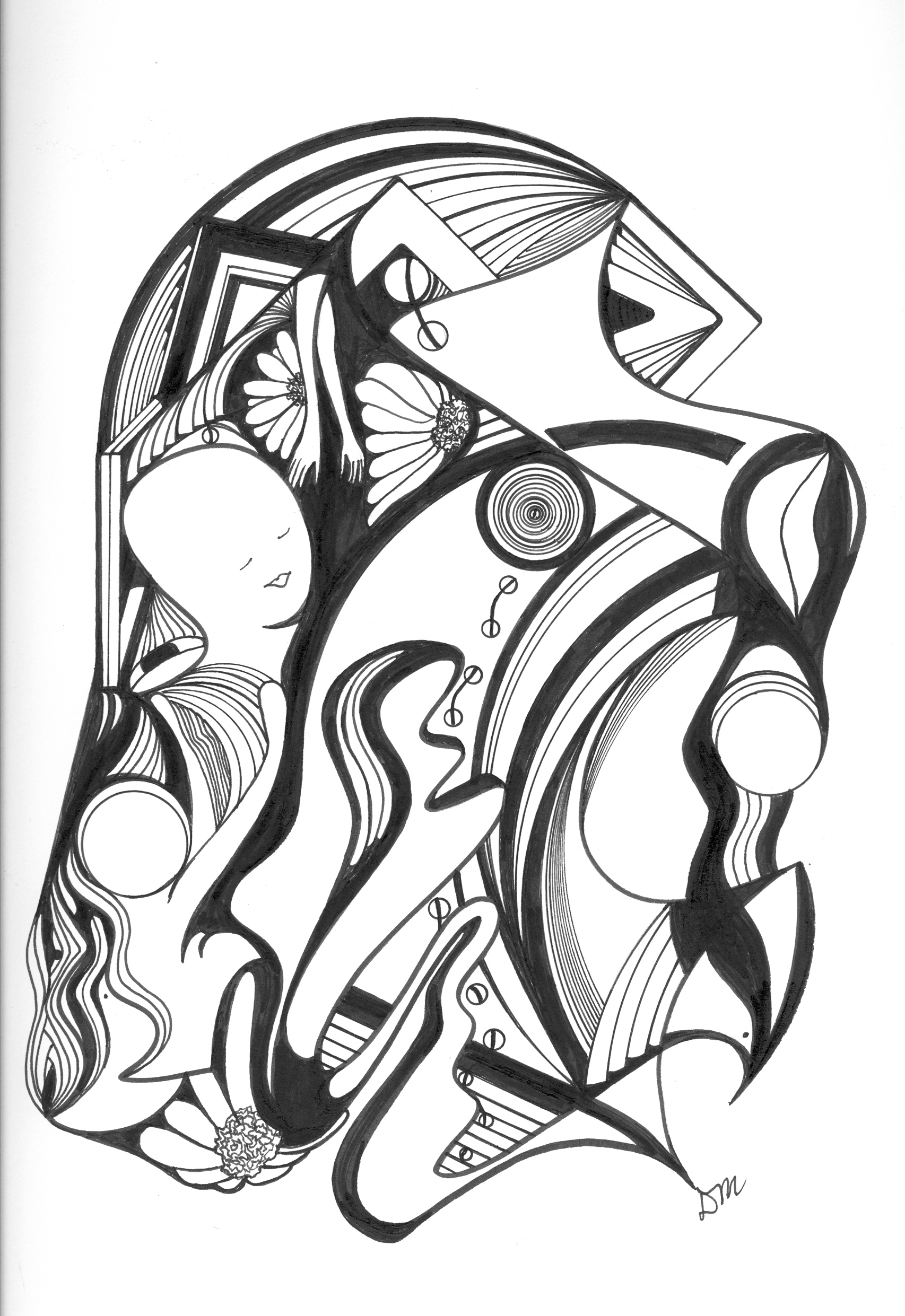 1706x2482 Pen And Ink Abstract Drawing My Style, Friends, Moments