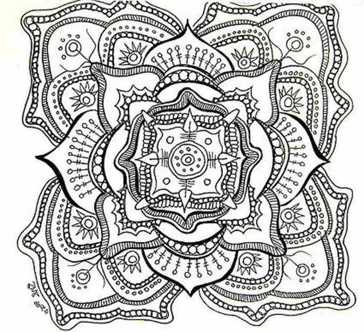 736x671 Coloring Pages Free Printable Abstract For Adults