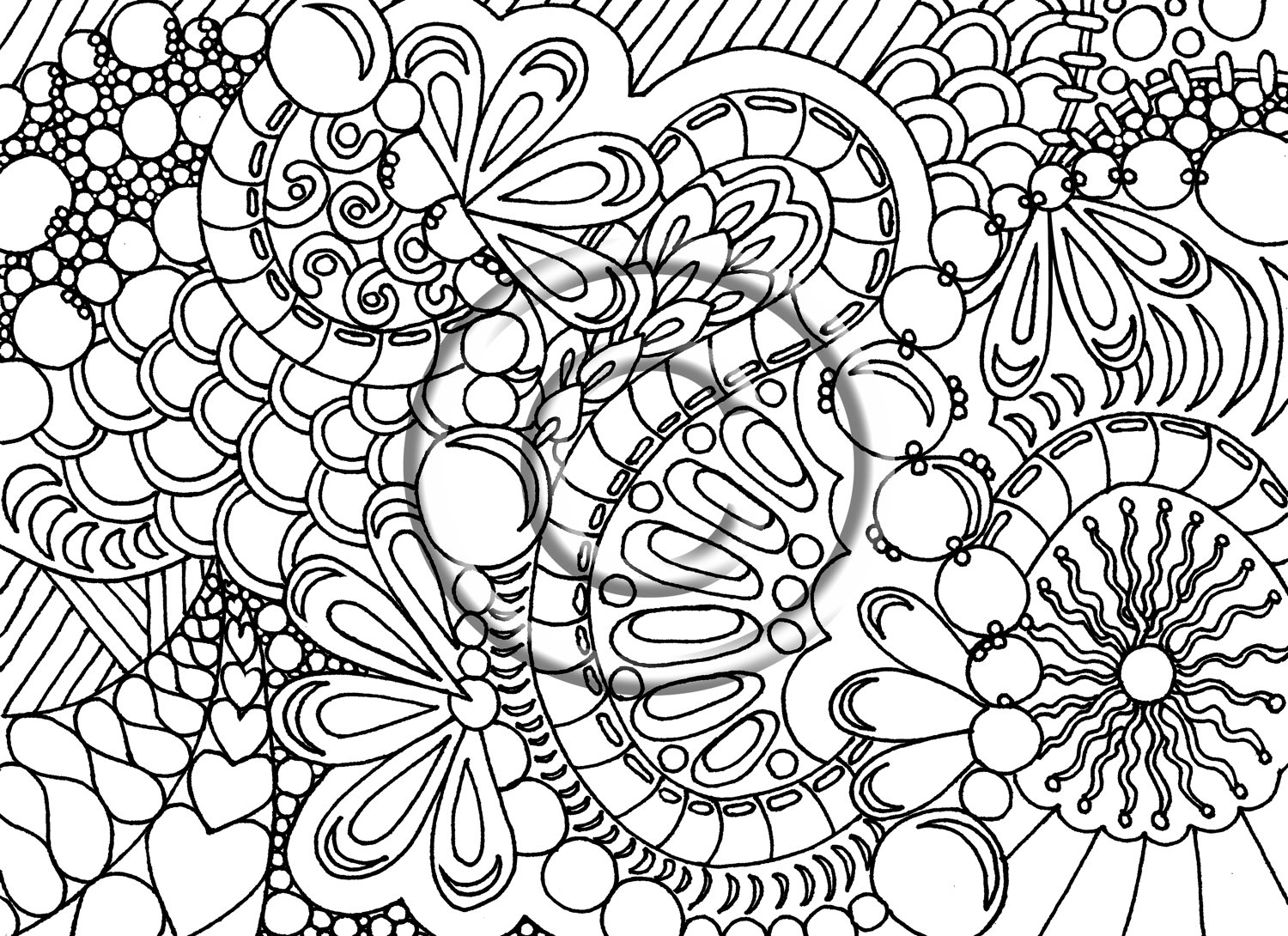 1500x1090 Gallery Abstract Coloring Pages DifficultFree For
