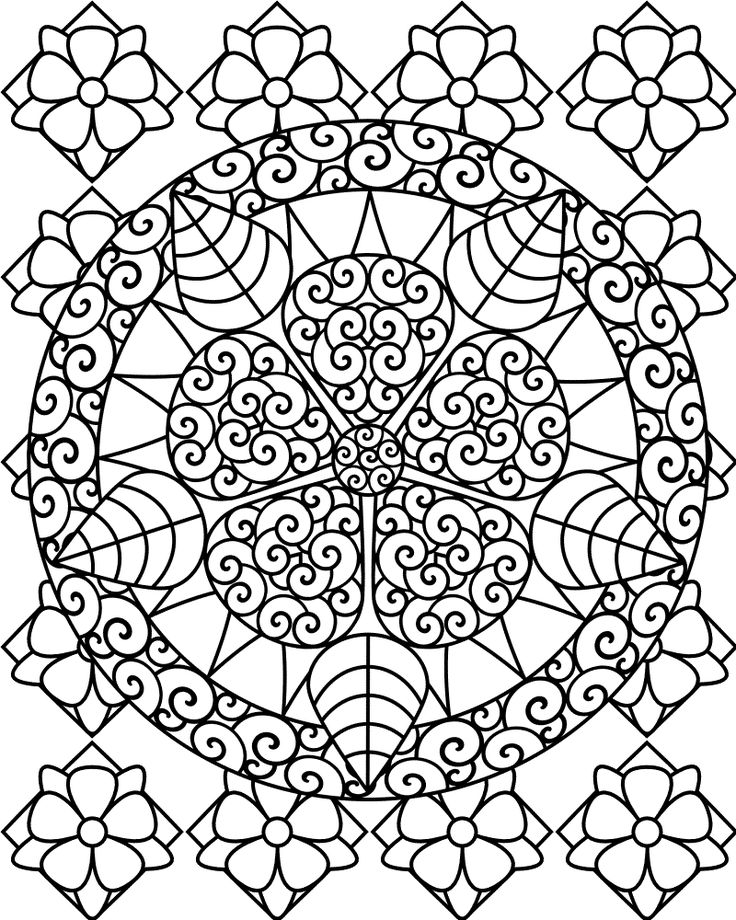 736x920 Abstract Art Coloring Pages Free Printable