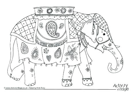 Abstract Elephant Drawing At Getdrawingscom Free For Personal Use - Coloring-pages-elephants