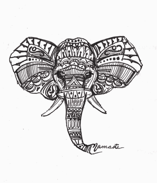 Abstract Elephant Drawing At Getdrawings Com Free For