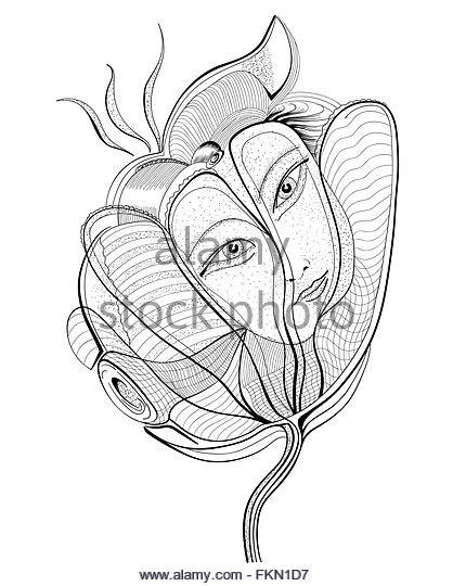 418x540 Girl Drawing Face Black And White Stock Photos Amp Images