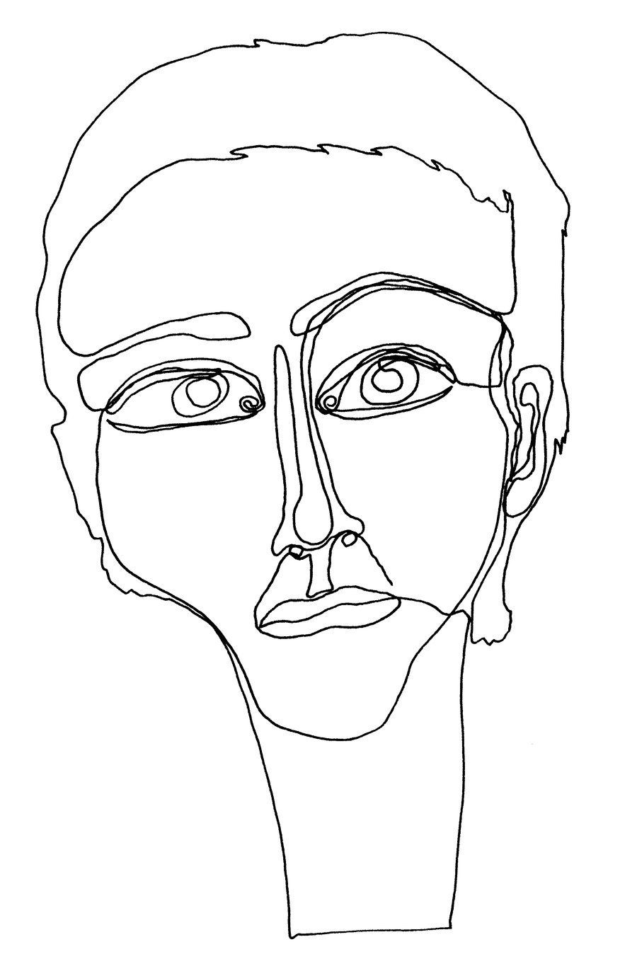 900x1372e Line Face By Marie Posa