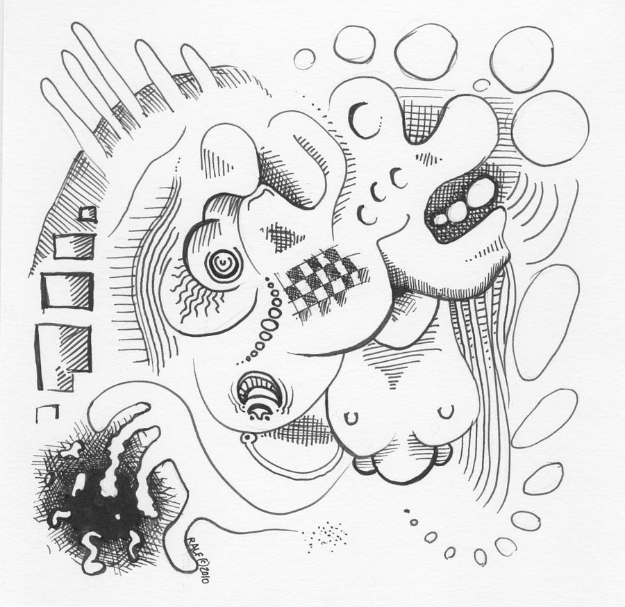 900x874 Abstract Ink Sketch Drawing By Ralf Schulze